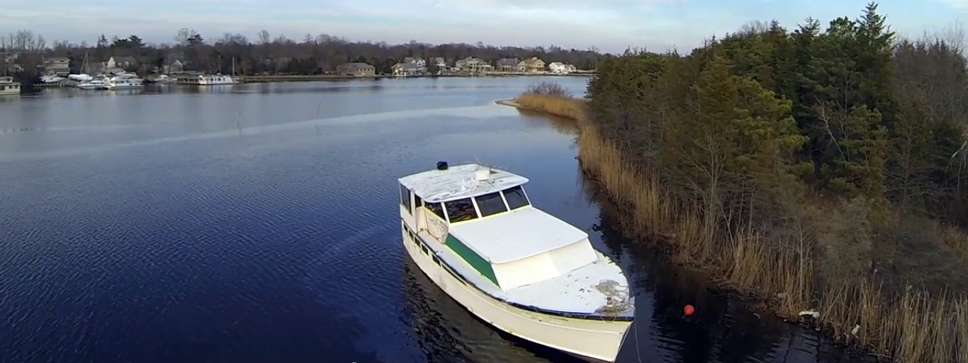 South Toms River Fuel Spill Boat 3-11-14