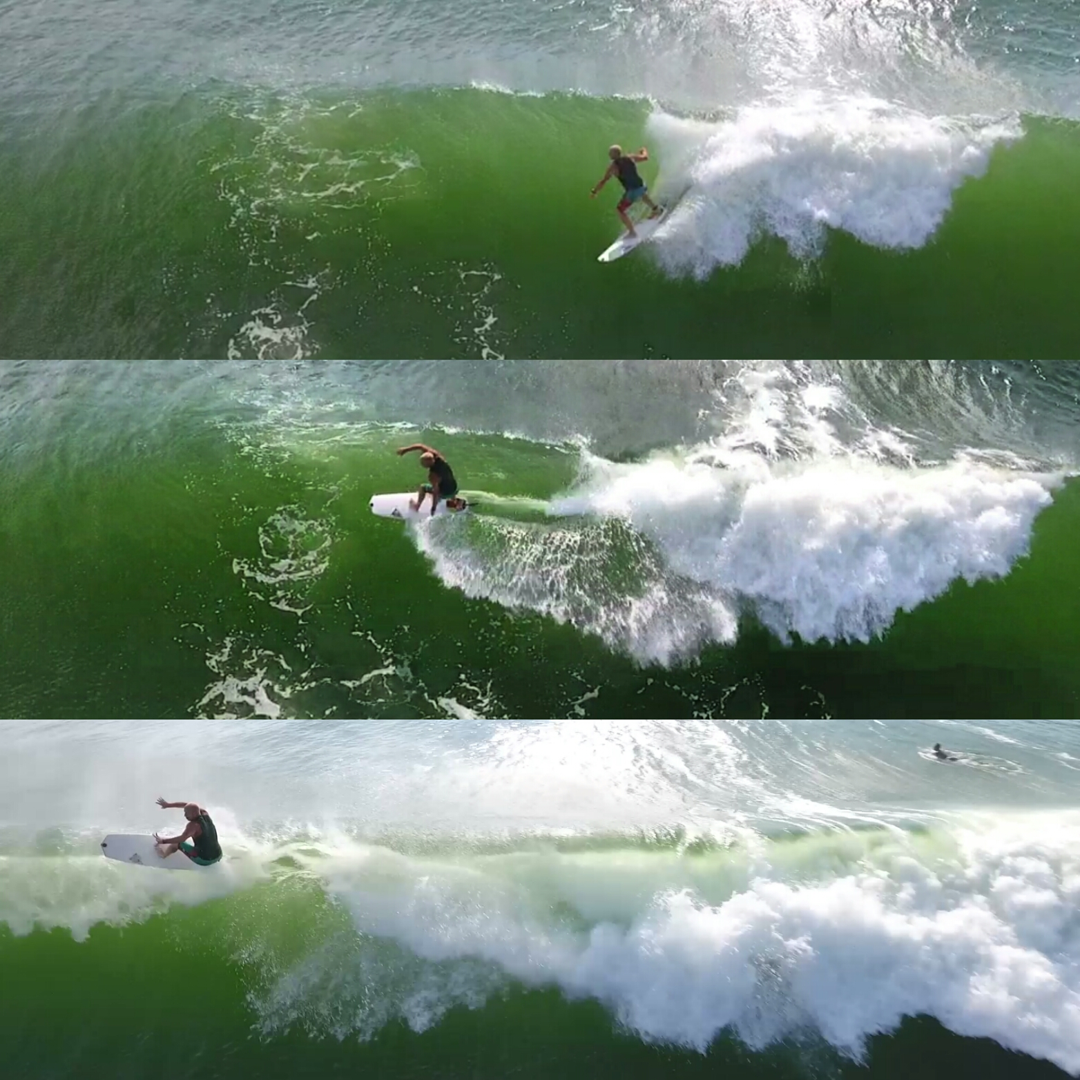 Tropical Gaston Swell Surfing Aerial Video