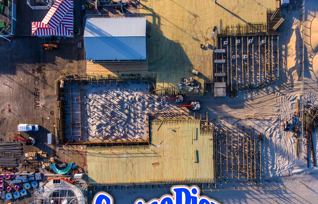 Casino Pier Construction Aerials Fall/Winter