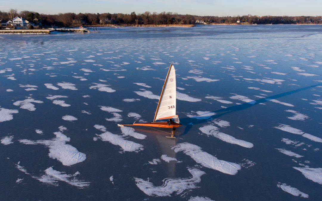 Ice Boats on Navesink River New Jersey January 2018